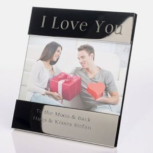 Buy him an I Love You photo frame.