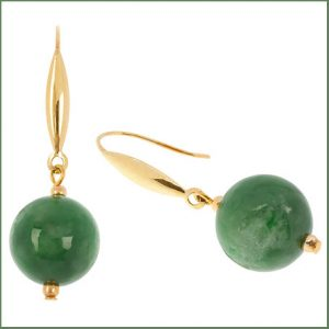 Buy her some 9ct Gold Jade Drop Earrings for this anniversary gift
