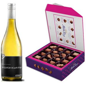 Buy her some cadburys milk tray and white wine.