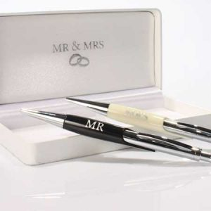 Buy them a mr & mrs pen set