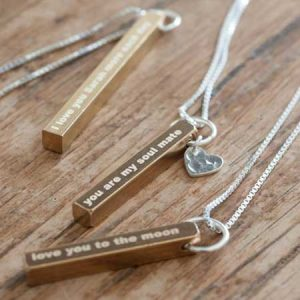Buy her a personalised brass pendant