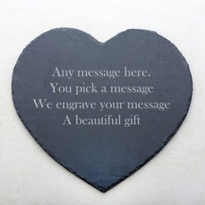Buy them a Personalised Heart Slate Placemat
