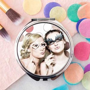 Buy her a photo upload compact mirror for this anniversary gift