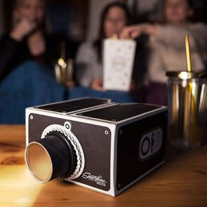 Buy him a smart phone projector from prezzybox.com