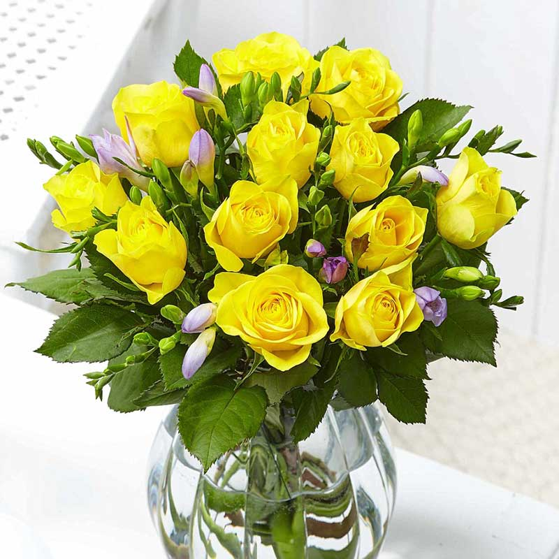 Buy her some roses the traditional flower gift for this anniversary