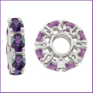 Buy her Silver & Amethyst Wheel Charm for this anniversary gift