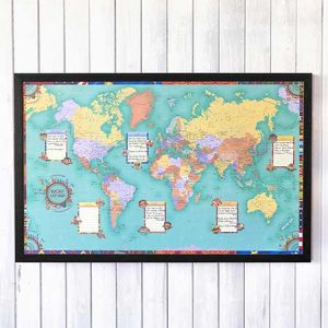 Buy him Personalised World Bucket List Map for an anniversary gift