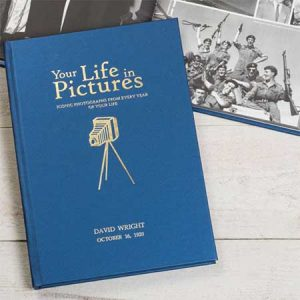 Buy him a personalised your life in pictures book