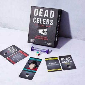 Buy them the dead celebs card game.