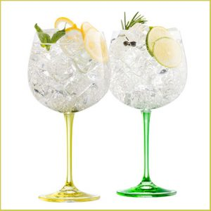 Buy them a pair of Galway Crystal Lemon and Lime Gin and Tonic glasses