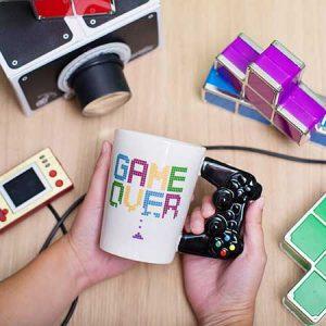 Buy him the game over mug