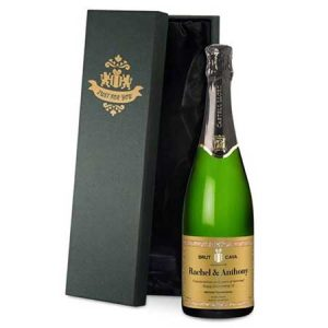 Buy her a personalised bottle of Cava for this anniversary gift