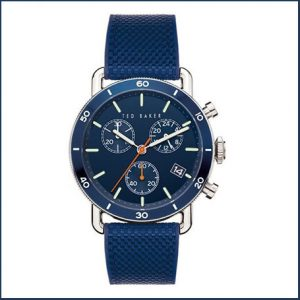 Buy him the Ted Baker Steelcase Blue Dial Blue Fabric Inlay Silicone Gents Watch