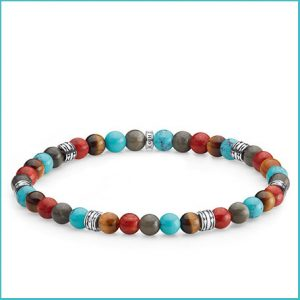 Buy him a Thomas Sabo Multicolour Lucky Charm Beaded Bracelet for this anniversary gift