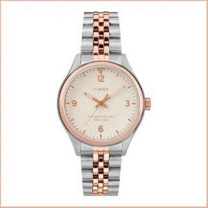 Buy her a ladies Timex Quartz Analog Two Tone Watch