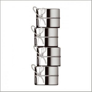 Buy them the Vera Wang Love Knots Napkin Rings for their anniversary gift.