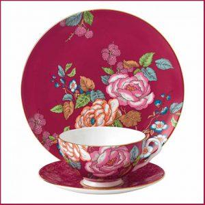 Buy her the Wedgwood tea garden raspberry set.