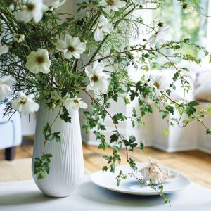 Buy her the Wedgwood white Folia vase.