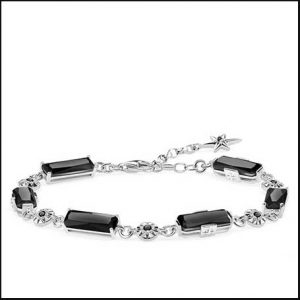 buy her the Thomas Sabo Black Magic Stones Star Bracelet for this anniversary gift