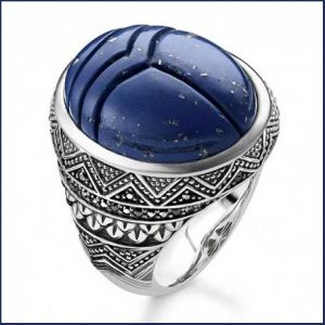 Buy him this Thomas Sabo Rebel at Heart Blue Scarab Signet Ring
