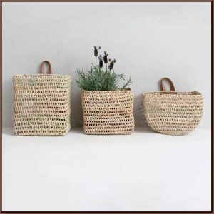 Buy them these Moroccan Mini Wall Baskets for this anniversary gift