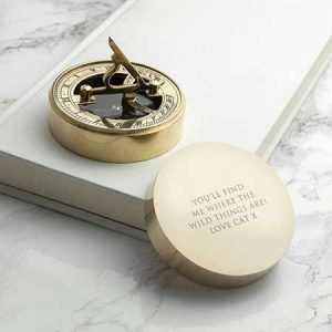 Buy him this Adventurer's Brass Sundial and Compass