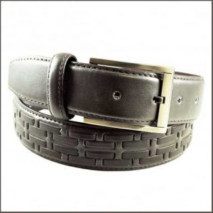 Buy him a Brown Woven Men's Leather Belt
