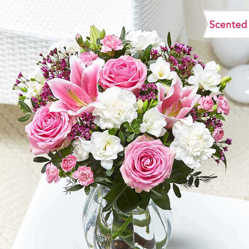 Buy her or them the cottage garden bouquet for their 30th wedding anniversary gift.