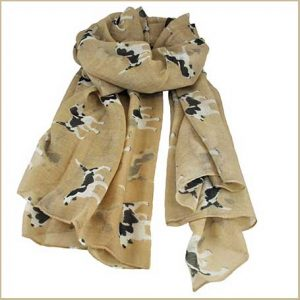 Buy her this dog print womens scarf for her anniversary gift