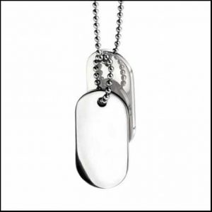 Buy him these Fred Bennett steel dogtags for this anniversary gift