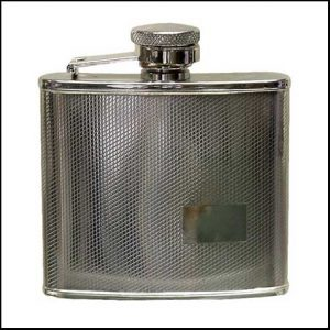 Buy him the Harvey Makin steel hip flask for the 11th wedding anniversary