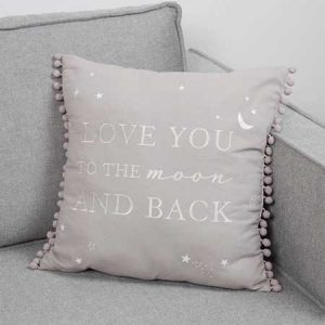 Buy them a linen cushion with Love you to the moon and back, for this anniversary gift