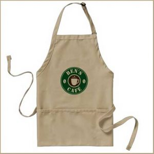 Buy him this Custom barista apron for coffee shop or cafe