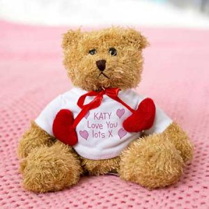 Buy her this personalised love heart bear