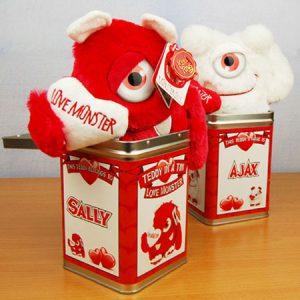 Buy her the Love Monster in a Tin for this anniversary gift.