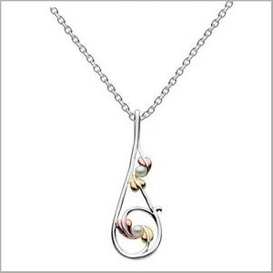 Buy her the Annabel Mixed Gold Leaves and Pearls Pendant for this anniversary gift