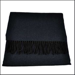 Buy him this Tresanti Celeste 100% Finest Mongolian Virgin Wool Plain Navy Scarf