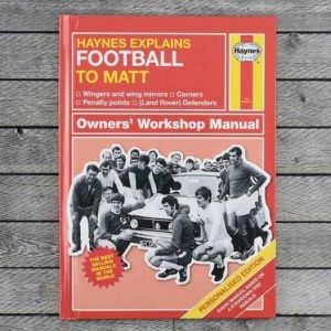 Buy him this Personalised Haynes Explains Football for his anniversary gift