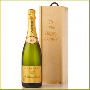 Buy them a Personalised Champagne in Personalised Wooden Gift Box