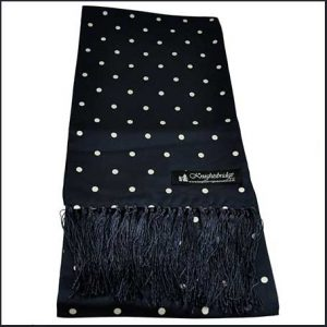 Buy him this Knightsbridge Navy Blue & White Polka Dot Men's Aviator Silk Scarf