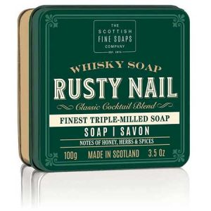 Buy him some Men's Rusty Nail Whisky Soap