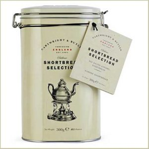 Buy him the Cartwright And Butler Shortbread Selection With Salted Caramel And Almond In Tin