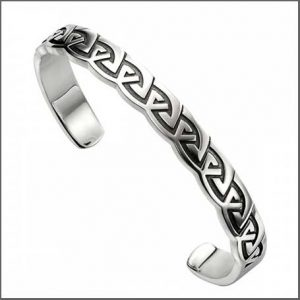 Buy him this Silver Celtic Mens Bangle for his anniversary gift