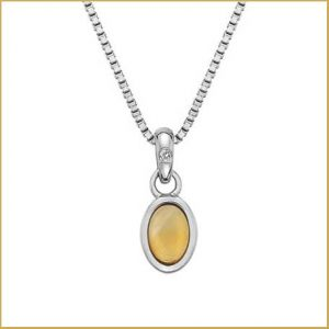 Buy her this silver and citrine pendant