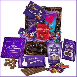 Buy him the cadbury chocolate gift basket