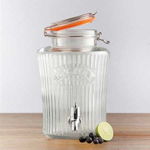 Buy them this vintage drinks dispenser for their anniversary gift.