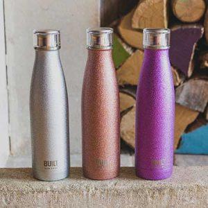 Buy her a Stainless Steel Water Bottle- Purple Glitter