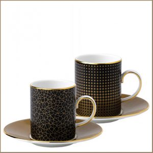 Buy them the Wedgwood Arris Espresso Cup and Saucer Pair Sphere-Crackle