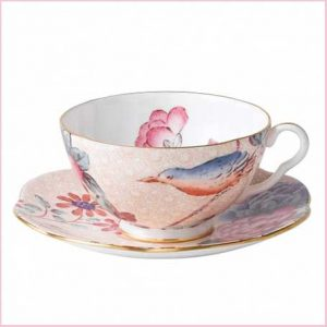 Buy her this Wedgwood Cuckoo Teacup and Saucer Peach