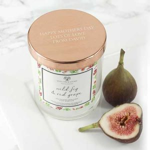 Buy her this ersonalised Wild Fig & Red Grape Candle With Copper Lid